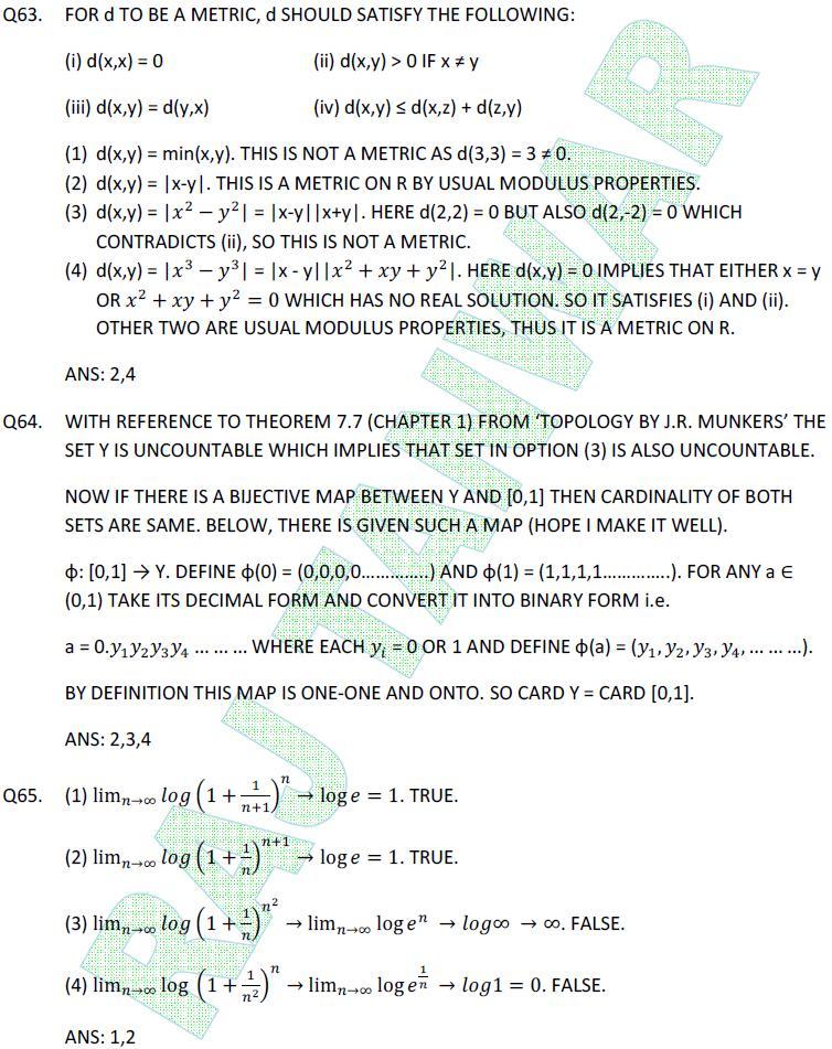 Math NET June 2011 Part-C(Q63-65) | Raj Tanwar